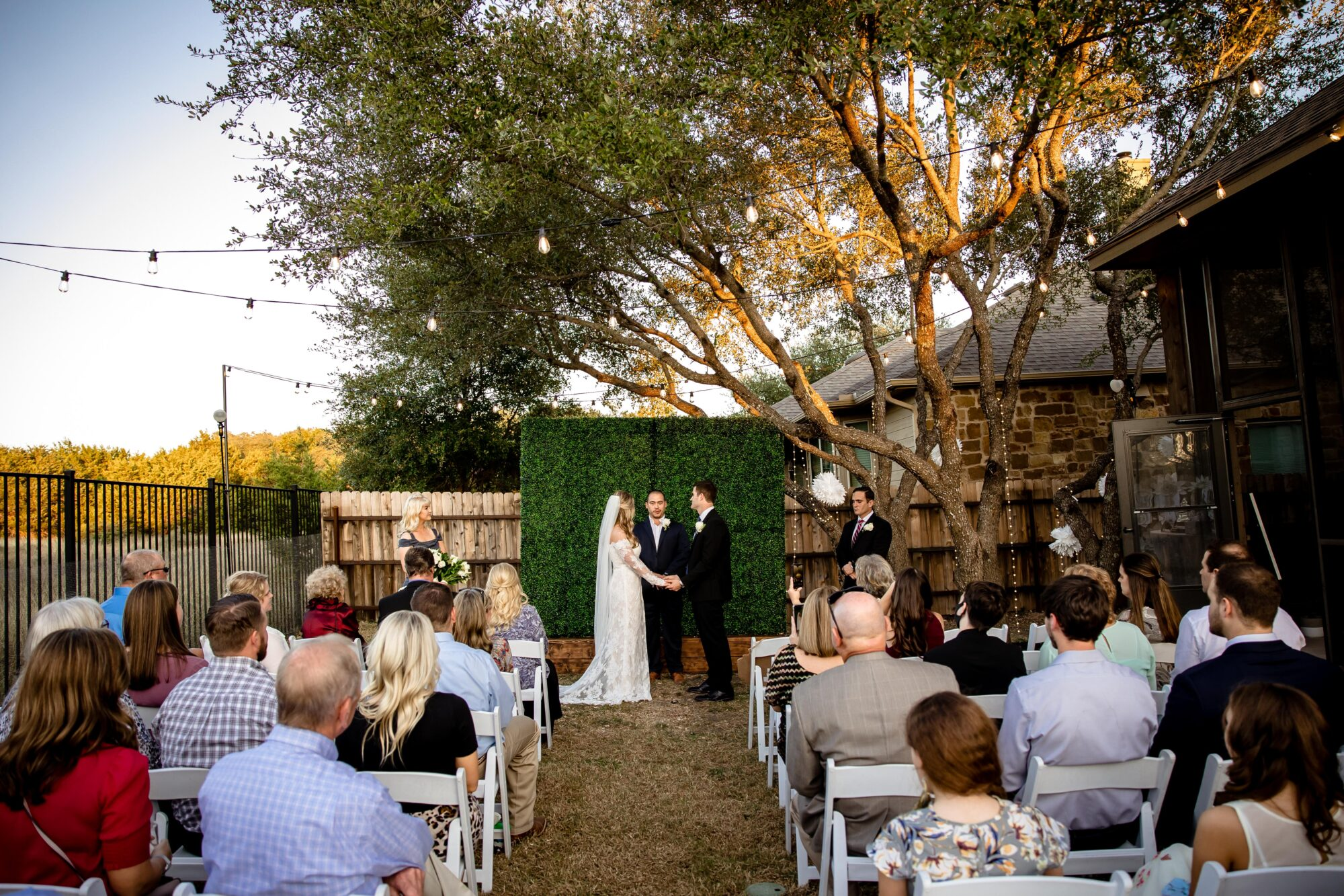 Budget-friendly backyard wedding